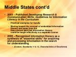 middle states cont d