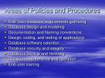 areas of policies and procedures