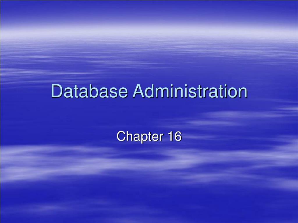 database administration l.