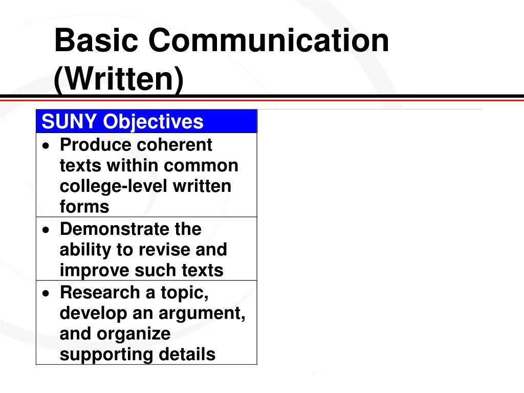 Basic Communication (Written)