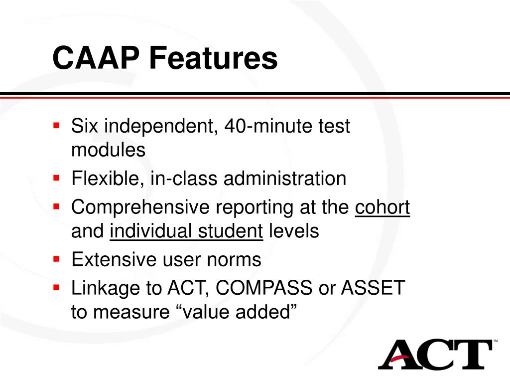 CAAP Features