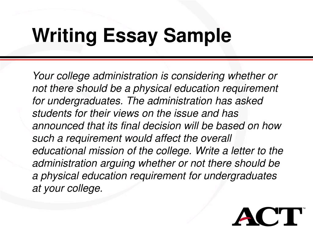 Writing Essay Sample