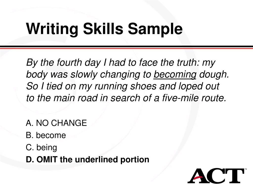 Writing Skills Sample