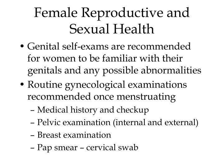 Female Reproductive and Sexual Health