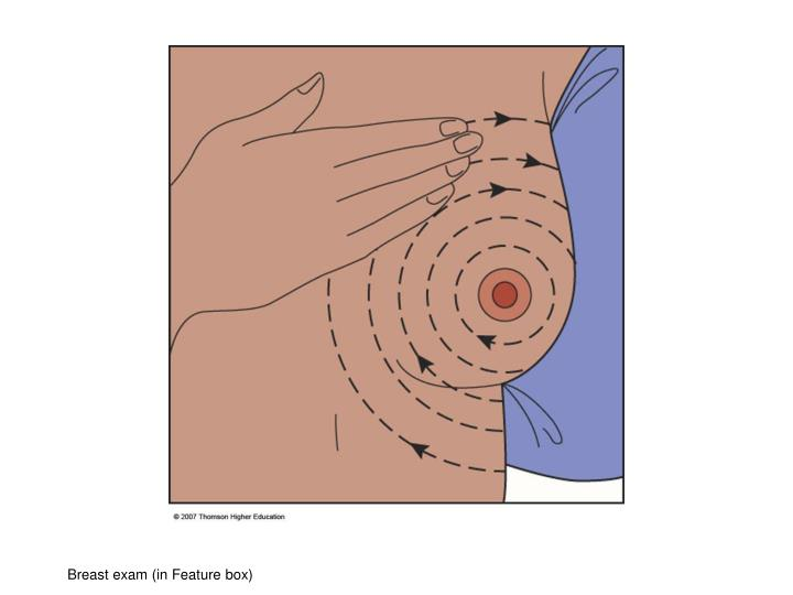 Breast exam (in Feature box)