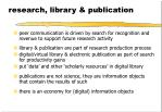 research library publication