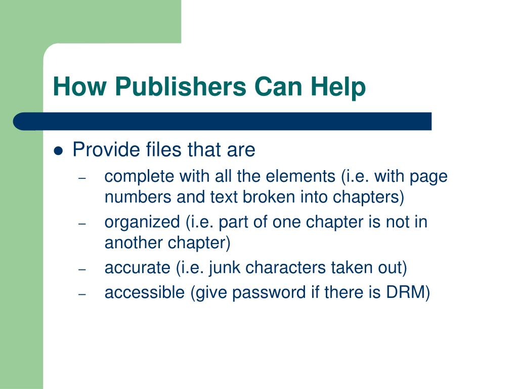 How Publishers Can Help