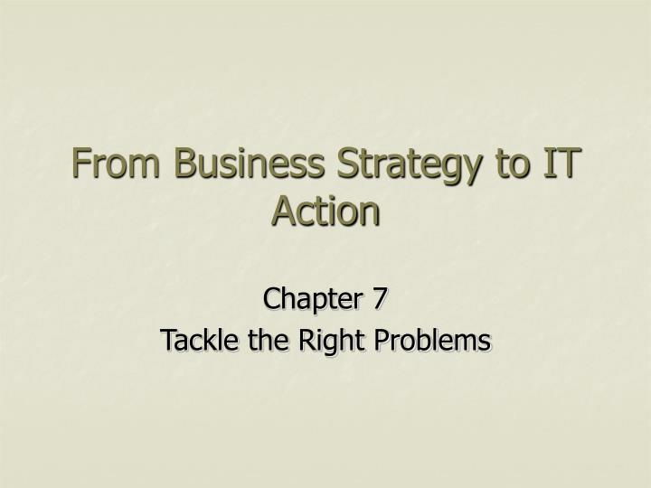 from business strategy to it action n.