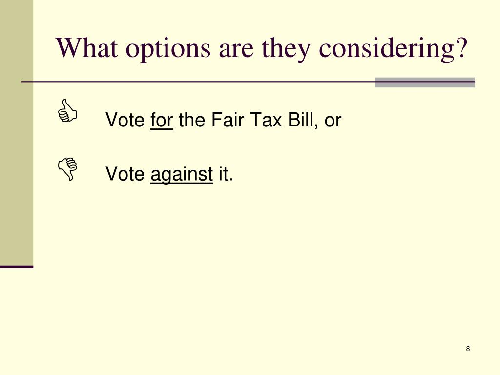 What options are they considering?