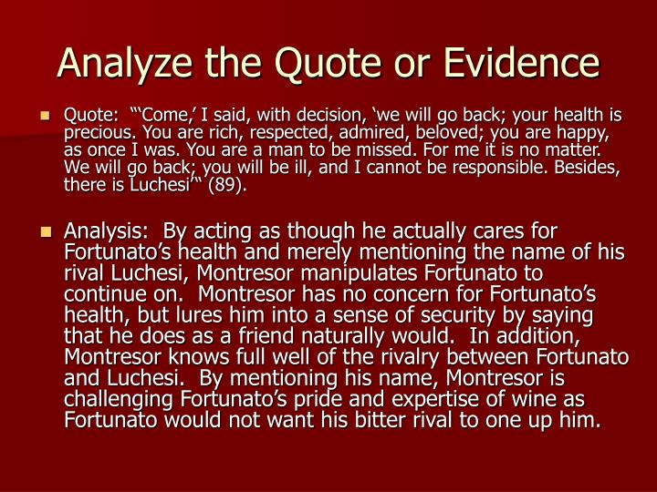 Analyze the Quote or Evidence