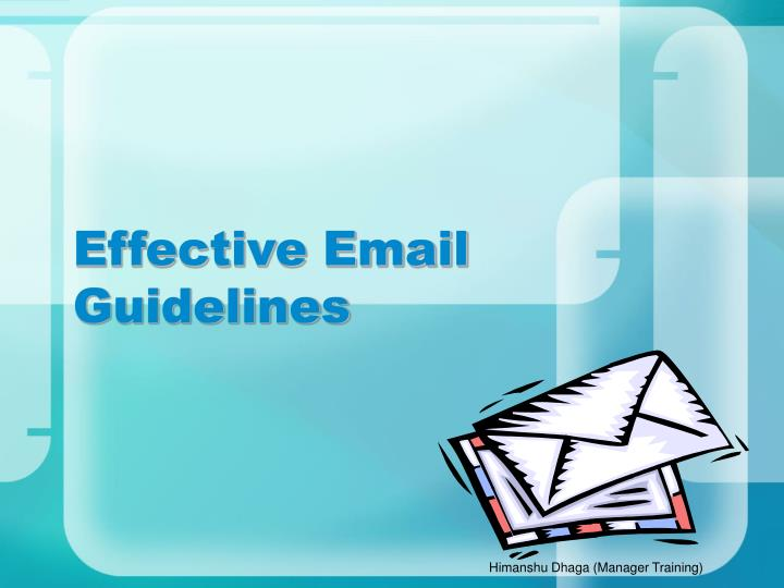 effective email guidelines n.