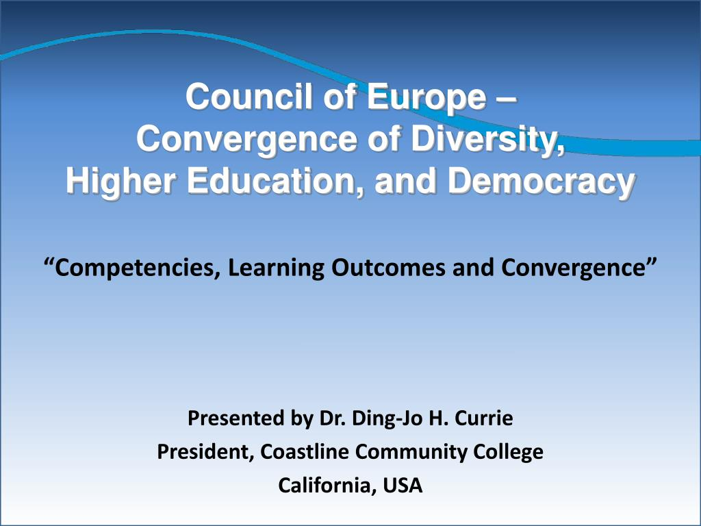 council of europe convergence of diversity higher education and democracy l.