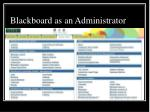 blackboard as an administrator