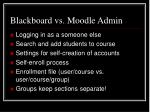 blackboard vs moodle admin