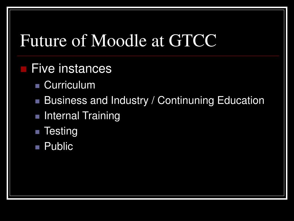 Future of Moodle at GTCC