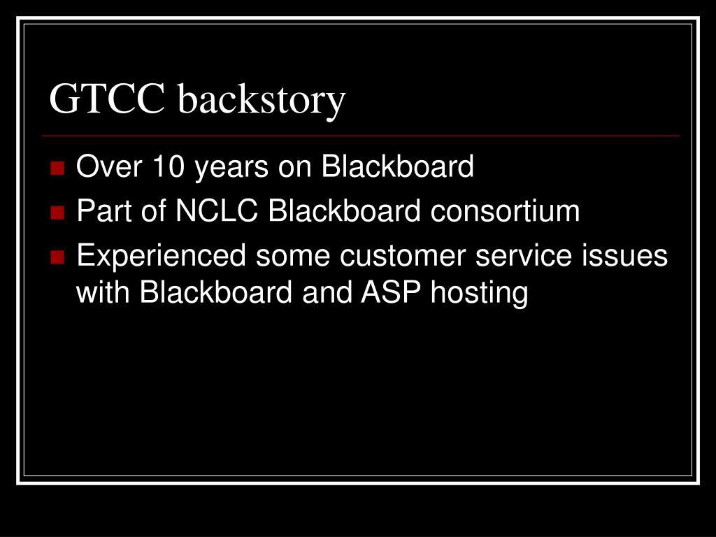 GTCC backstory