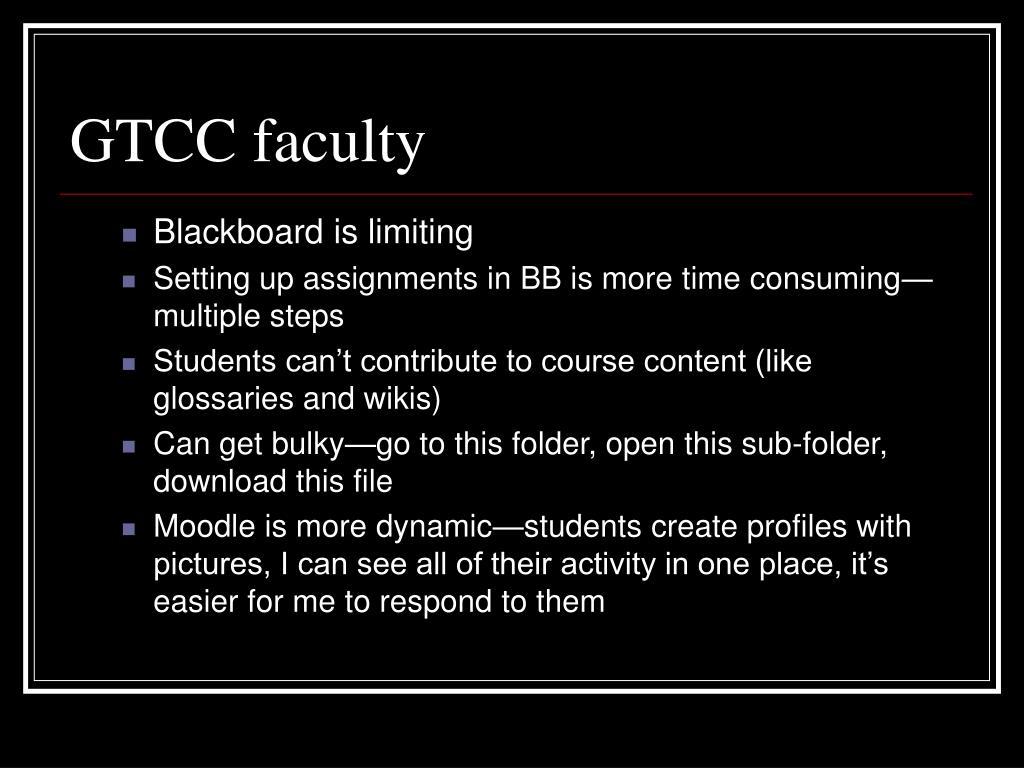 GTCC faculty