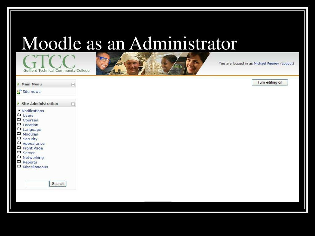 Moodle as an Administrator