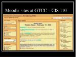 moodle sites at gtcc cis 110