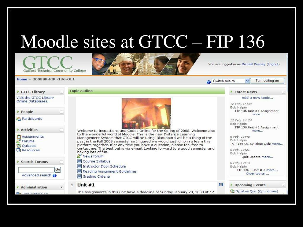 Moodle sites at GTCC – FIP 136