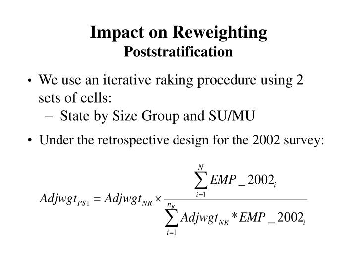 Impact on Reweighting