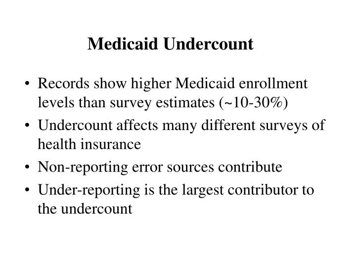 Medicaid undercount