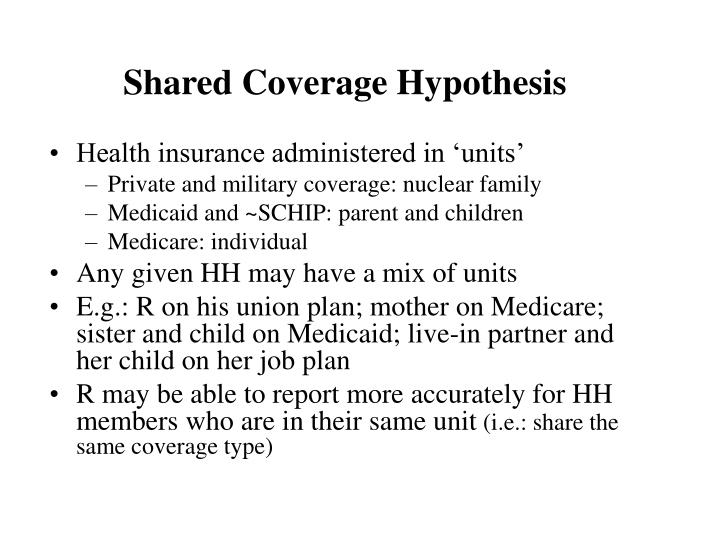 Shared Coverage Hypothesis