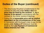 duties of the buyer continued1