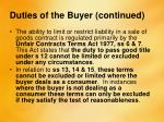 duties of the buyer continued2
