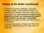 duties of the seller continued2