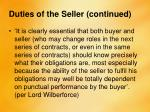 duties of the seller continued3