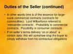 duties of the seller continued4