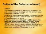 duties of the seller continued5