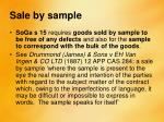 sale by sample