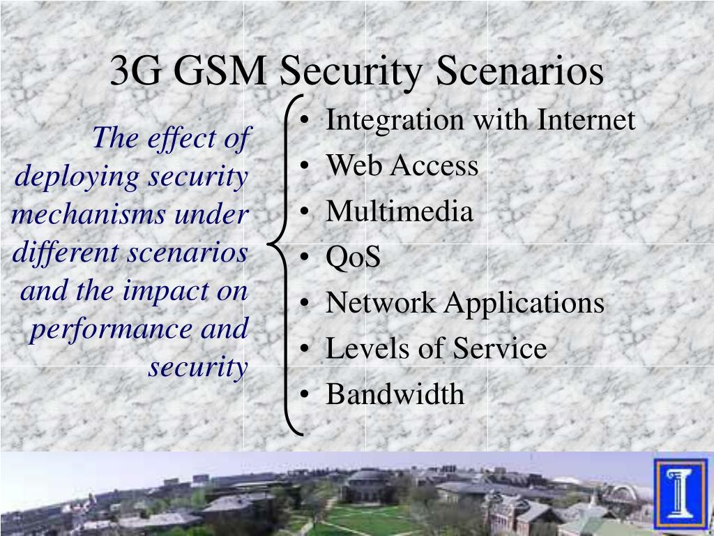3G GSM Security Scenarios