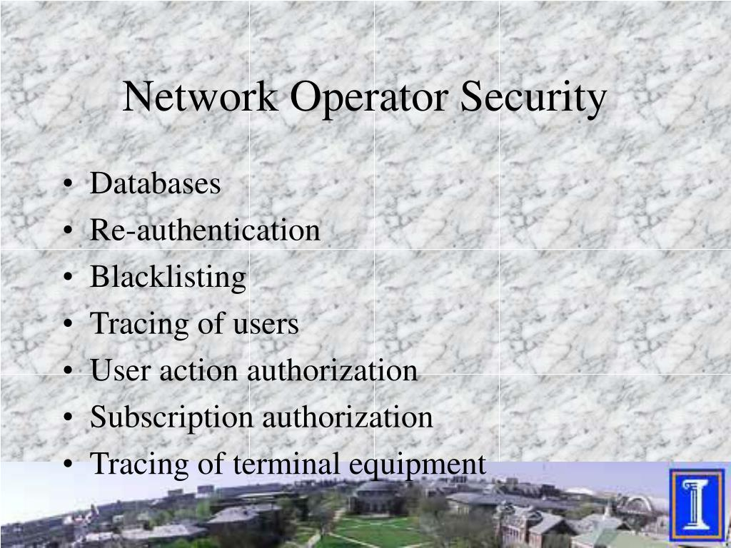 Network Operator Security
