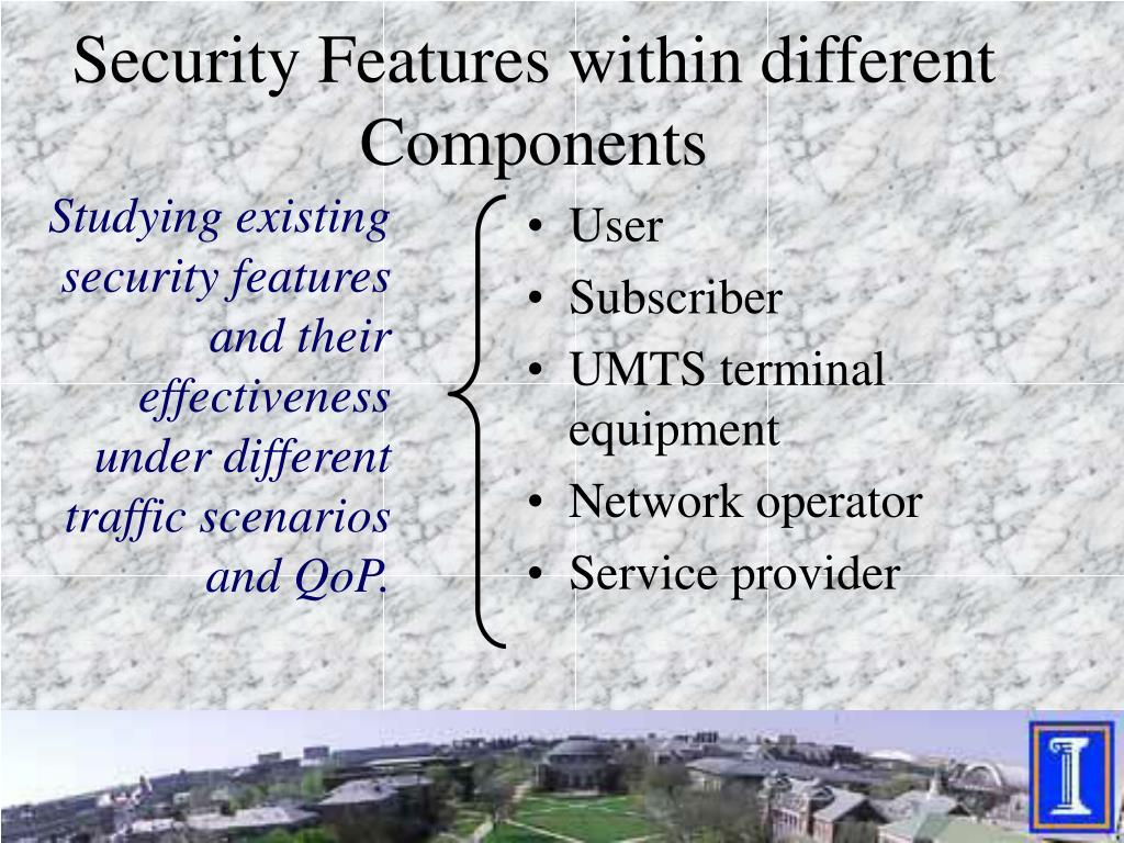 Security Features within different Components