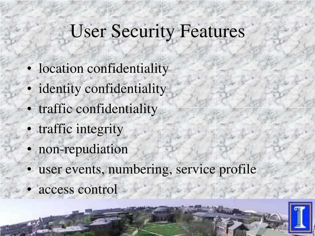 User Security Features