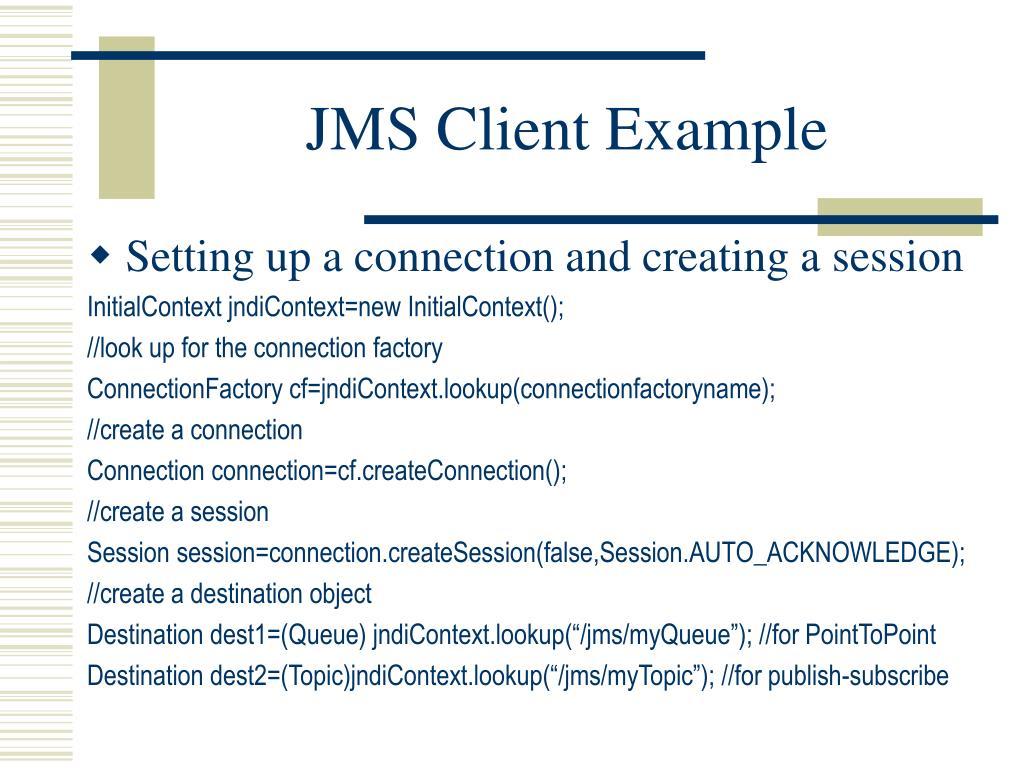 PPT - Java Message Service (JMS) PowerPoint Presentation