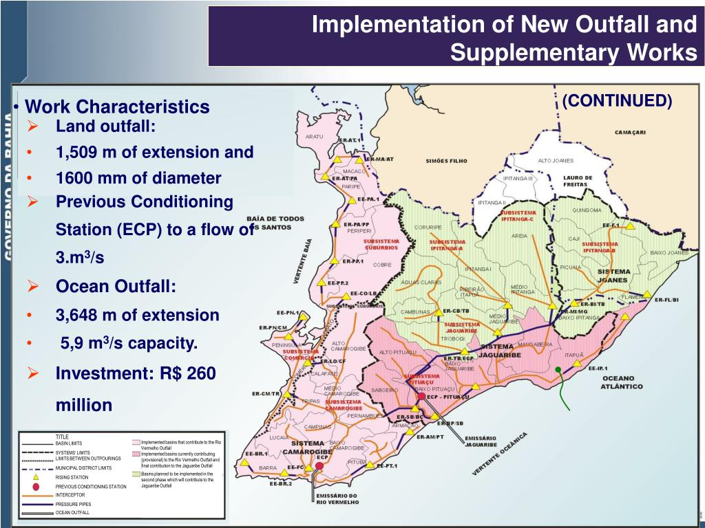 Implementation of New Outfall and Supplementary Works