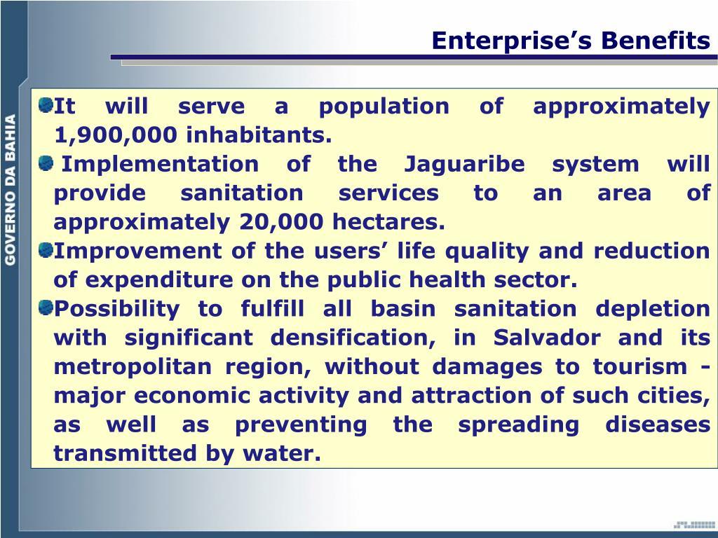 Enterprise's Benefits