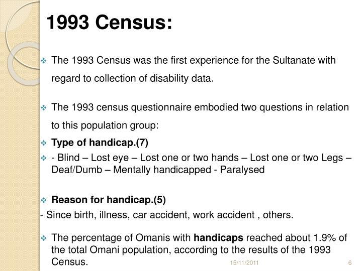 1993 Census: