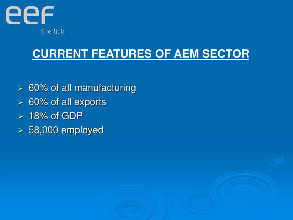 CURRENT FEATURES OF AEM SECTOR