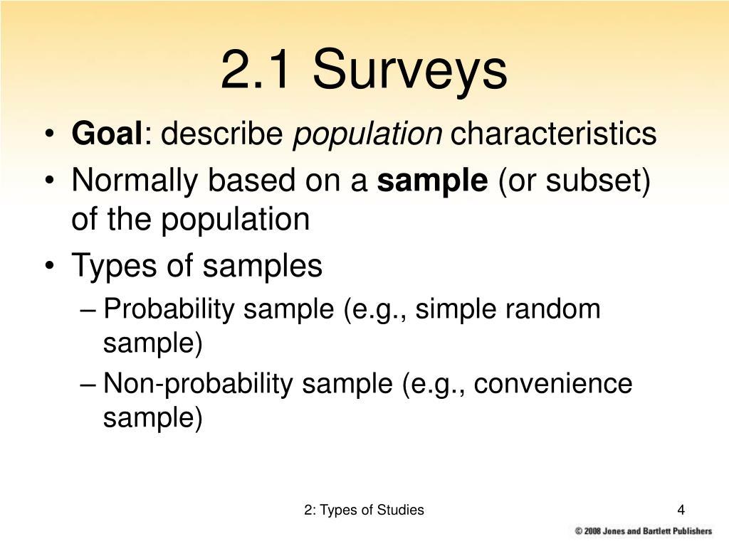 2.1 Surveys