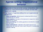 agenda setting organizational behavior