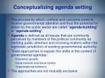 conceptualizing agenda setting