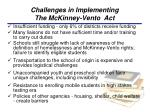 challenges in implementing the mckinney vento act