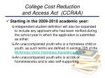 college cost reduction and access act ccraa