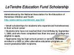 letendre education fund scholarship