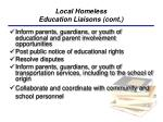 local homeless education liaisons cont